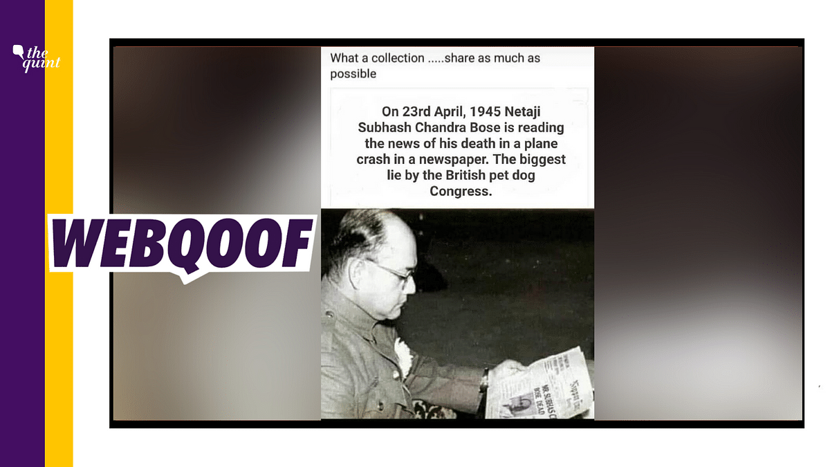 Edited Pic of Subhas Chandra Bose Shared To Push Theory of His Survival