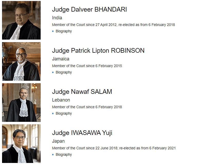 "<div class=""paragraphs""><p>Justice Dalveer Bhandari is one of the 15 member-judges at ICJ.</p></div>"