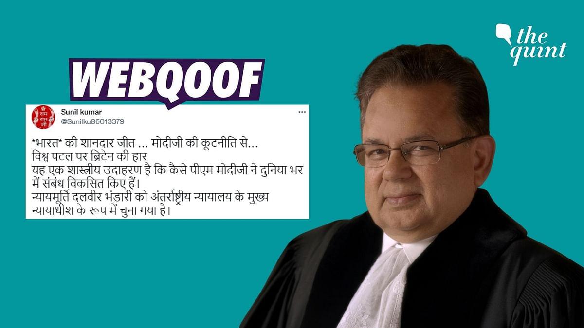 No, Dalveer Bhandari Hasn't Been Elected as 'Chief Justice' of ICJ