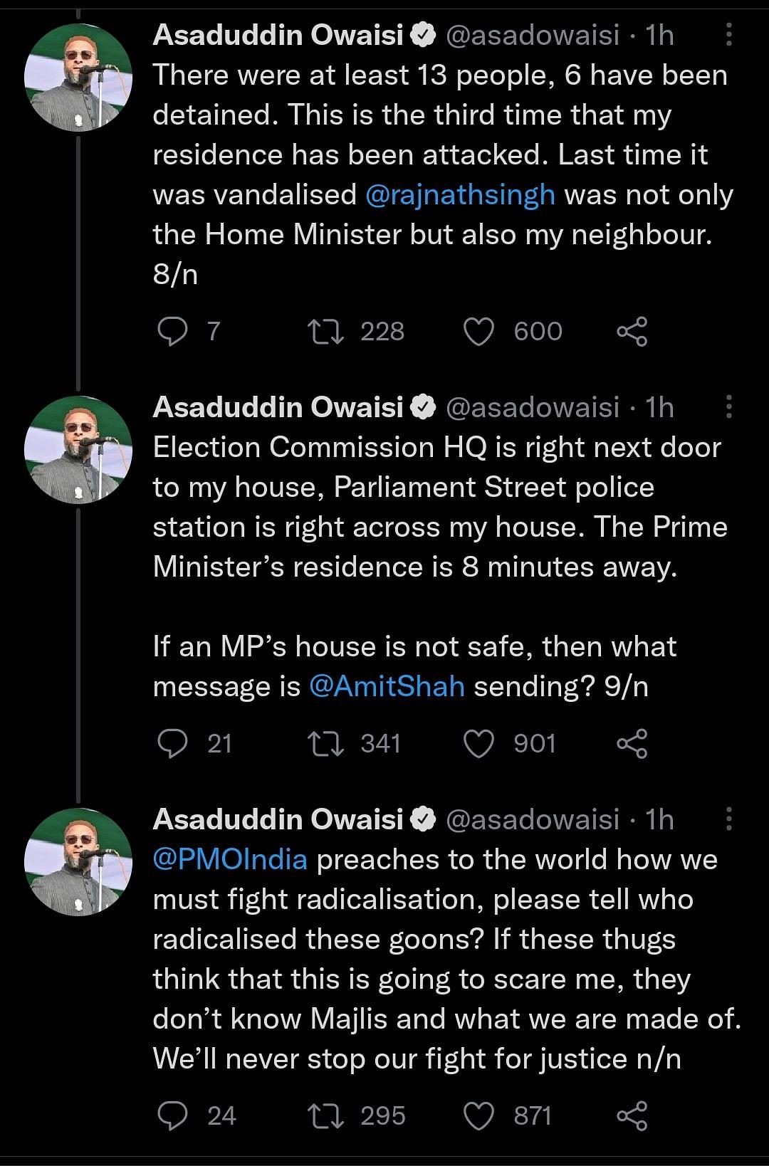 'Who Radicalised Them?' Owaisi Asks After Hindu Sena Allegedly Attacks His Home