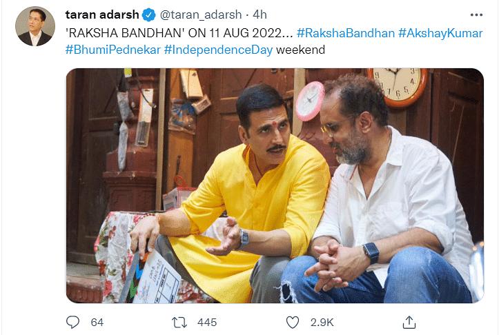 Akshay Kumar and Bhumi Pednekar-Starrer Raksha Bandhan to Release on This Date