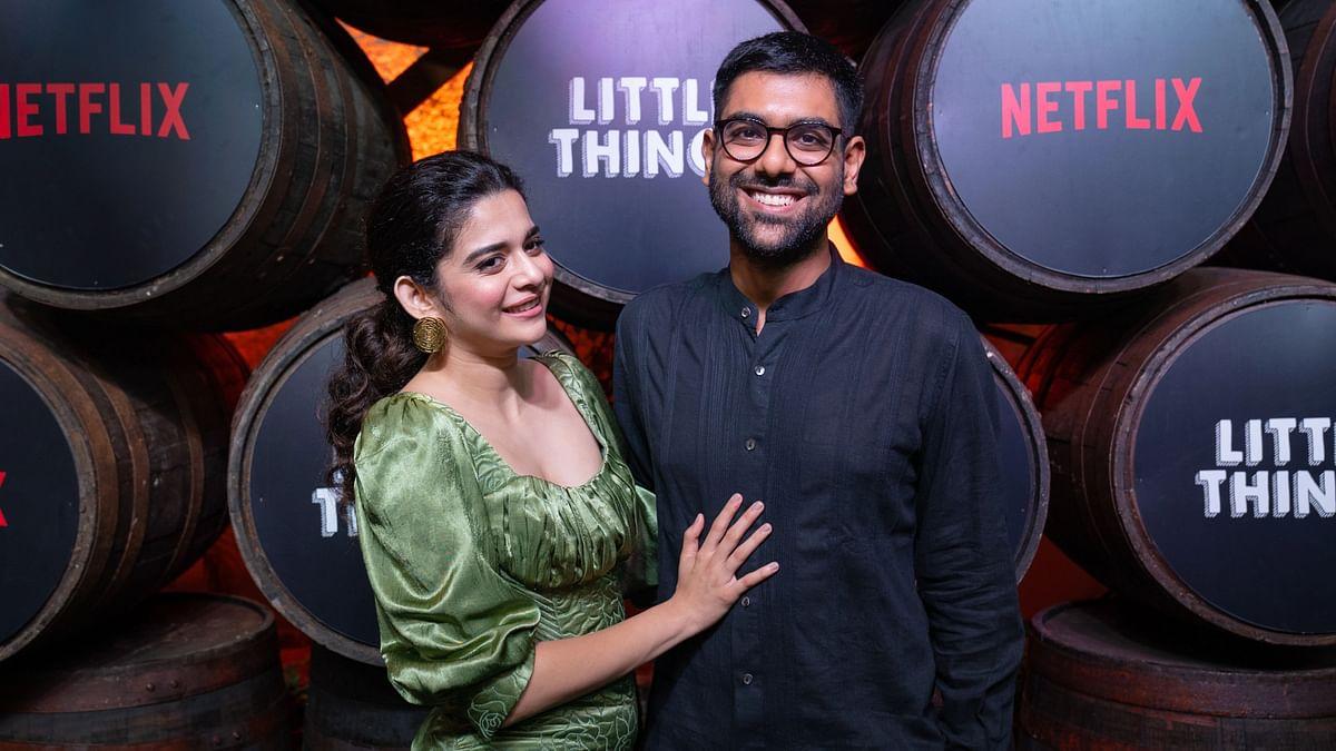 "<div class=""paragraphs""><p>Dhruv Seghal and Mithila Palkar during the promotion of <em>Little Things </em>Season 4<em>.</em></p></div>"
