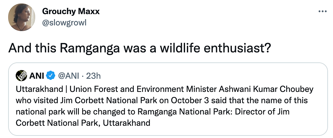 'Why?': Twitter Reacts as Jim Corbett May Now Be Called Ramganga National Park