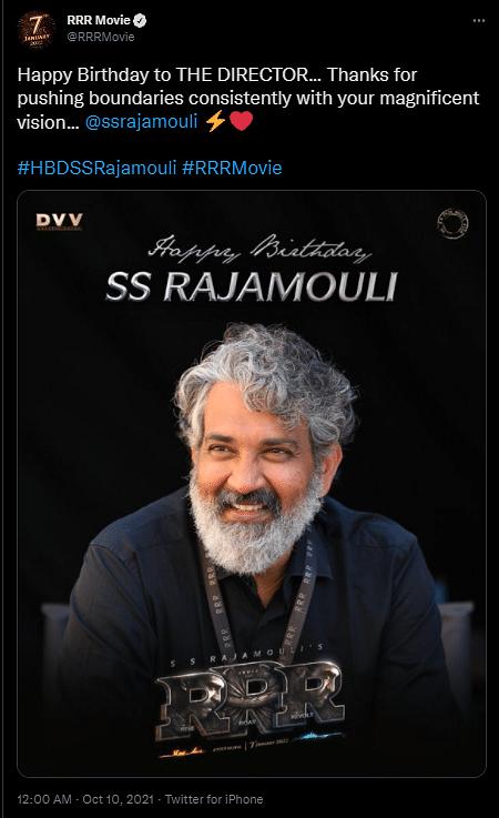 SS Rajamouli Birthday: Ram Charan, Ajay Devgn, Jr NTR Share New 'RRR' BTS Pics
