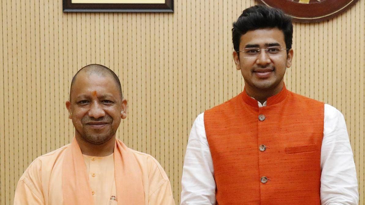 UP Polls: After Yogi's 'Abba Jaan', Tejaswi Surya Makes 'Bhai Jaan' Jibe at SP