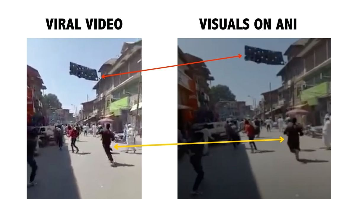 """<div class=""""paragraphs""""><p>Visuals highlighting the similarity between the viral video and ANI visuals.&nbsp;</p></div>"""