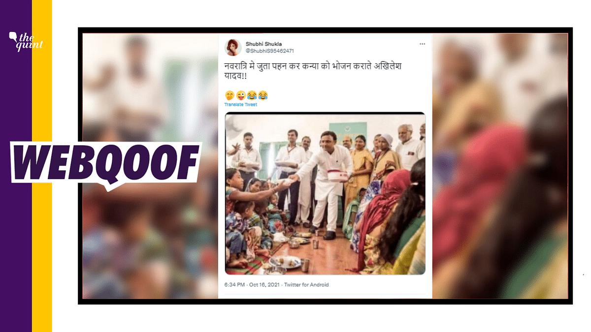 2016 Photo of Akhilesh Yadav Shared Falsely Linking it to Navratri