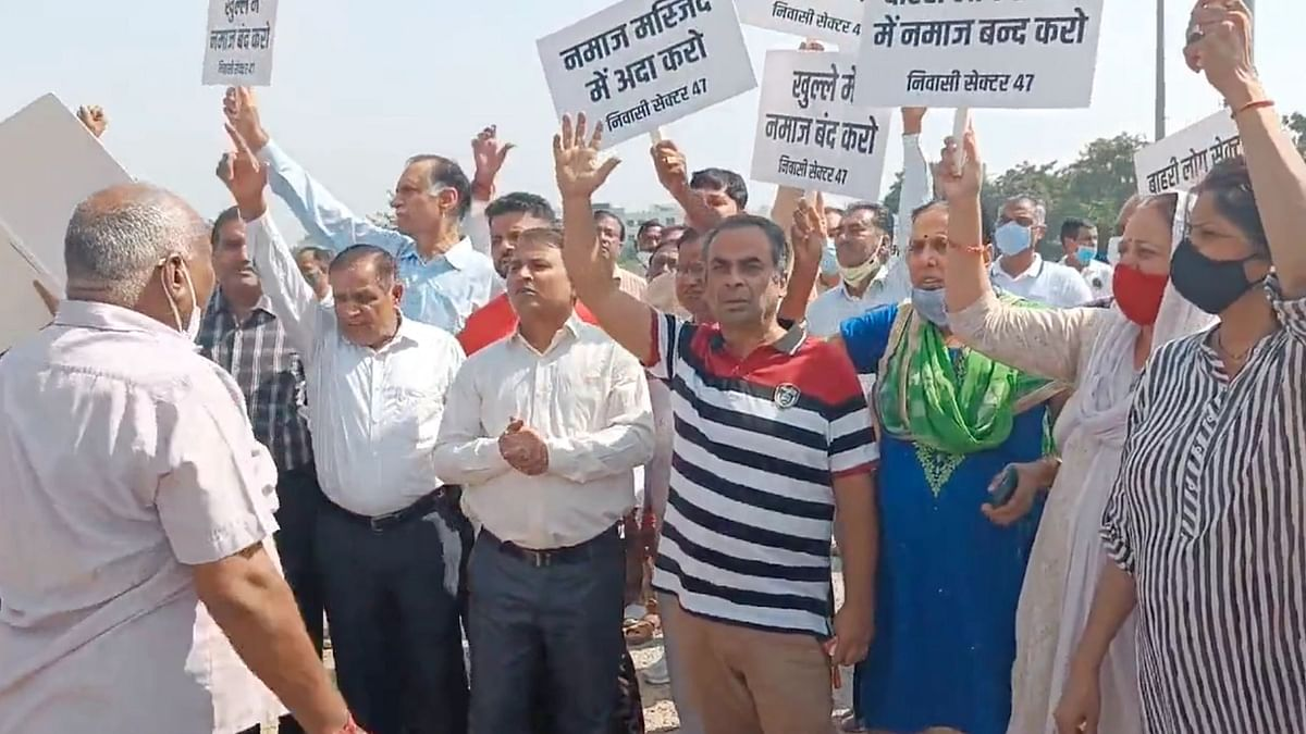Gurgaon Residents Protesting Against Namaz, Halt Their Protest Until Diwali