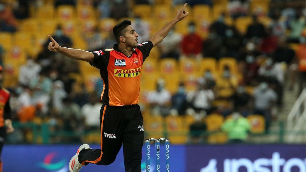 """<div class=""""paragraphs""""><p>Umran Malik has been troubling batters with his searing pace.</p></div>"""