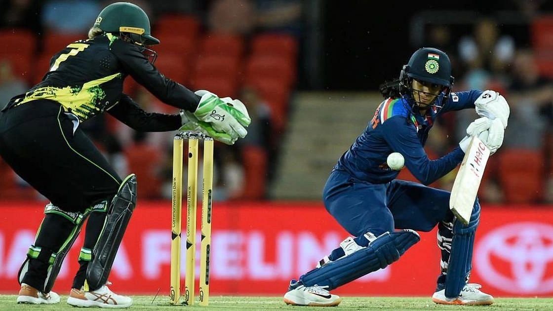 """<div class=""""paragraphs""""><p>Jemimah Rodrigues during her innings of 49.</p></div>"""
