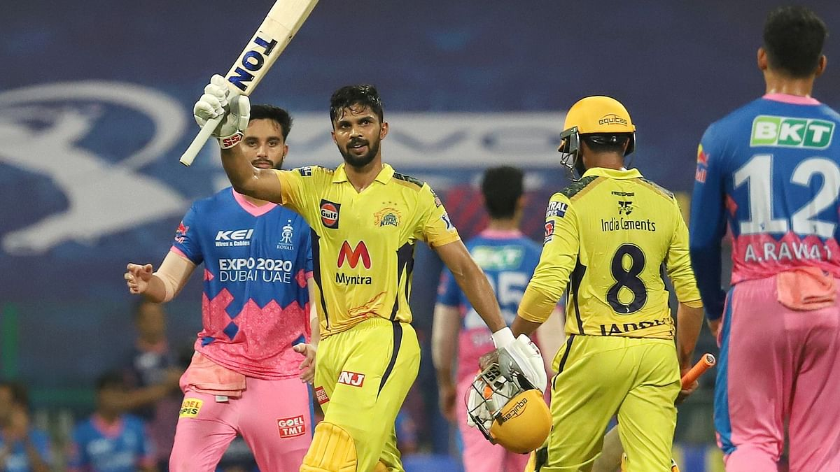 """<div class=""""paragraphs""""><p>Ruturaj Gaikwad smashed the first century of IPL 2021 in the UAE.</p></div>"""