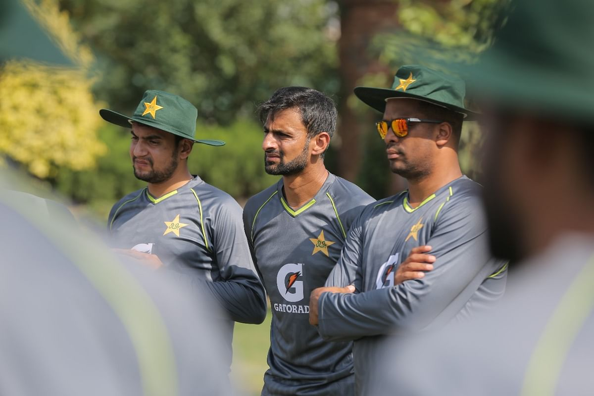 """<div class=""""paragraphs""""><p>Shoaib Malik training with the Pakistani team ahead of the T20 World Cup</p></div>"""