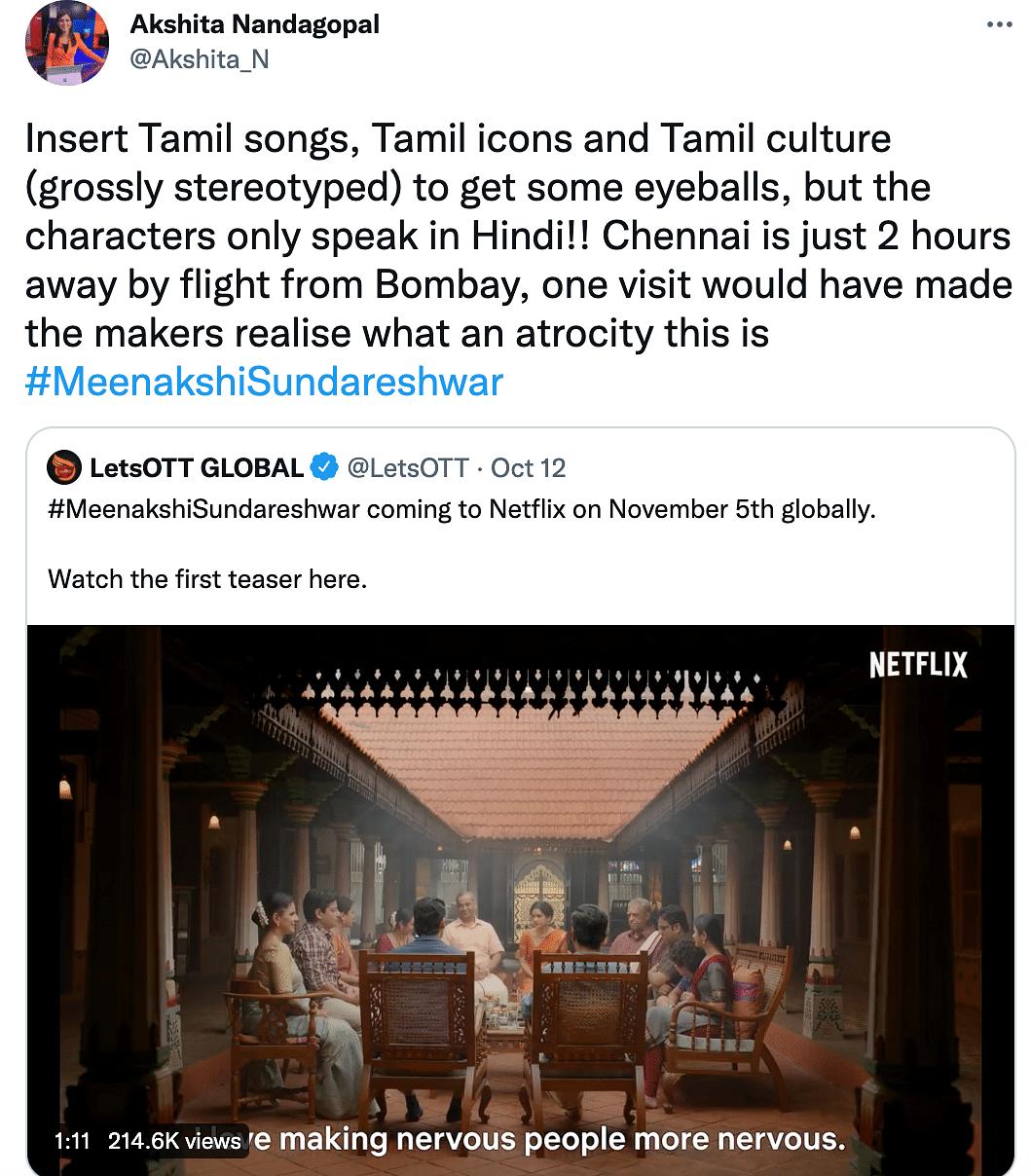 Karan Johar's 'Meenakshi Sundareshwar' Called Out for Stereotyping Tamilians