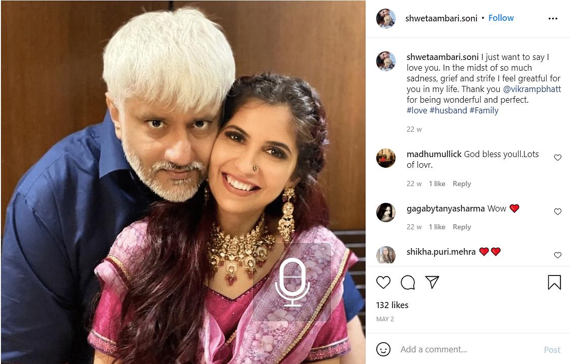 Vikram Bhatt Reveals Why He Kept His Marriage With Shwetambari Soni Under Wraps