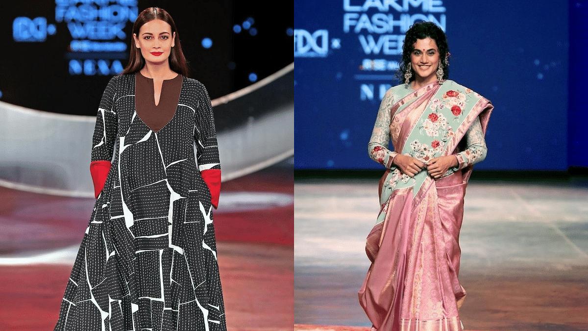 In Pics: Taapsee Pannu, Dia Mirza Stun the Ramp at Lakmé Fashion Week