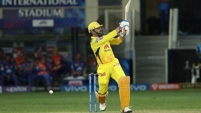 "<div class=""paragraphs""><p>MS Dhoni hits the winning runs against Delhi Capitals</p></div>"