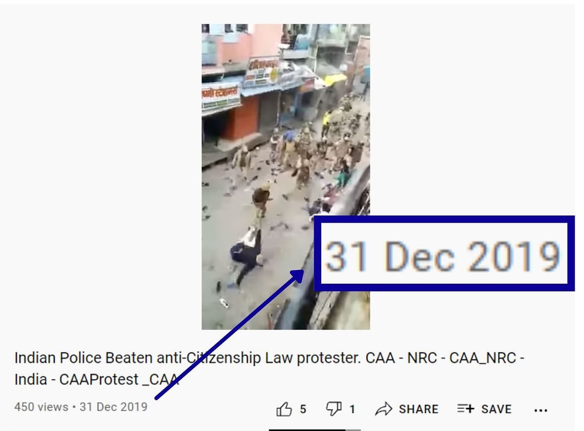 """<div class=""""paragraphs""""><p>The video's titled noted that it showed anti-CAA protesters.</p></div>"""
