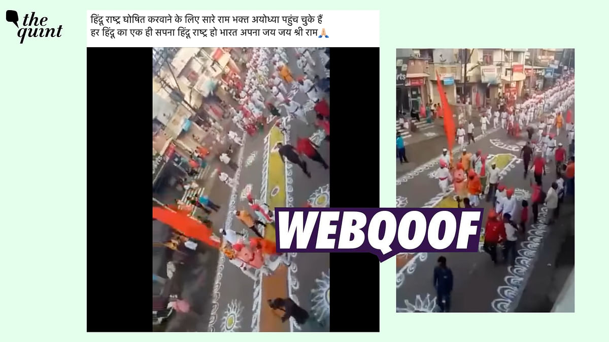 """<div class=""""paragraphs""""><p>The claim states that the video shows Lord Ram devotees reaching Ayodhya.</p></div>"""