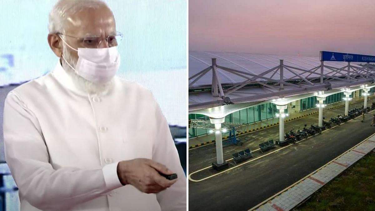 PM Modi Inaugurates Kushinagar Airport, Over 100 Buddhist Monks Attend Event
