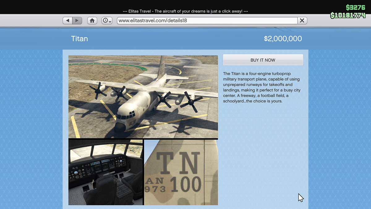 """<div class=""""paragraphs""""><p>The flight seen in the viral video is known as a Titan in GTA V game.&nbsp;</p></div>"""