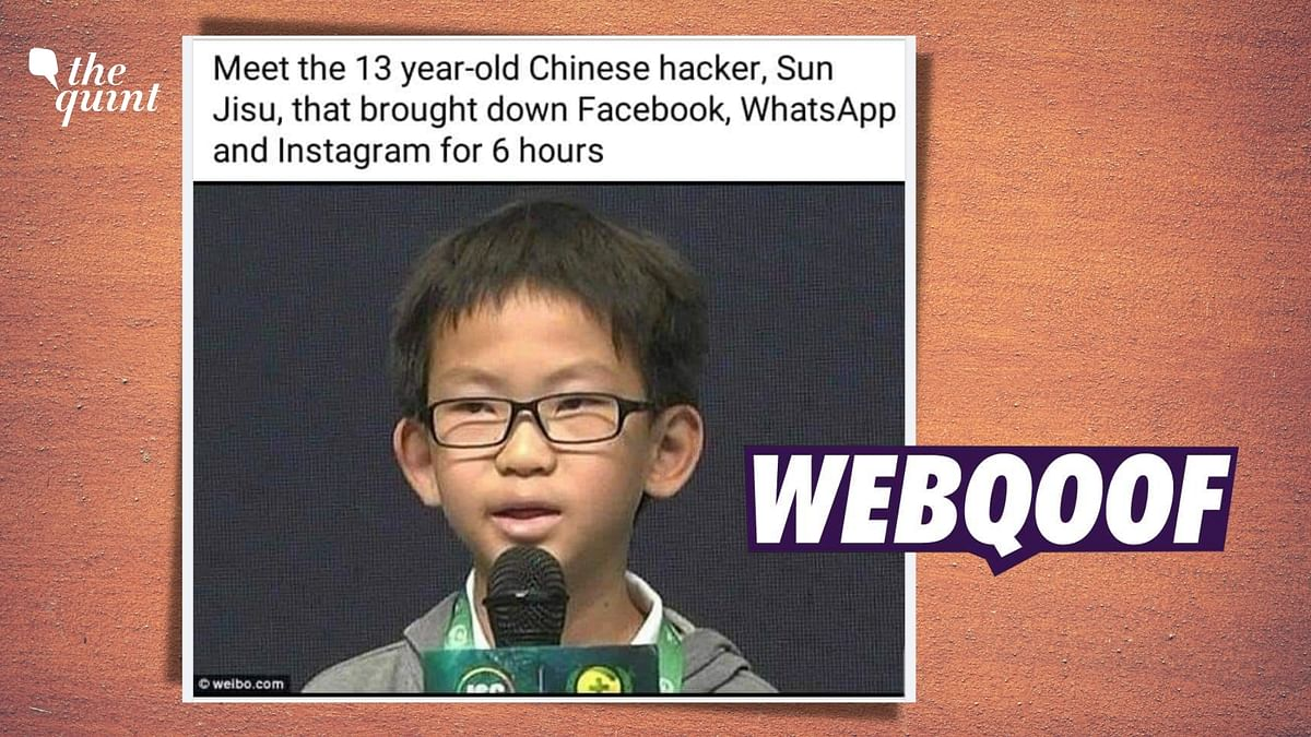 """<div class=""""paragraphs""""><p>The claim states that he is a Chinese hacker, Sun Jisu, who is responsible for the Facebook outage.&nbsp;</p></div>"""