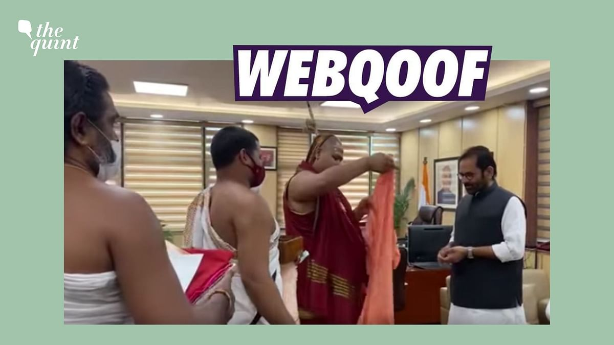 No, This Video Doesn't Show Union Min Mukhtar Abbas Naqvi Embracing Hinduism