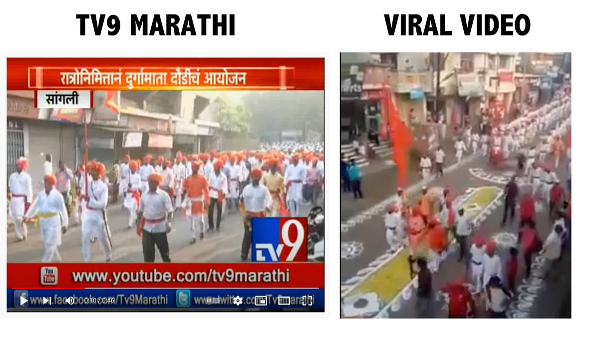 "<div class=""paragraphs""><p>Screengrab from TV9 Marathi (L), Screengrab from viral video (R).&nbsp;</p></div>"