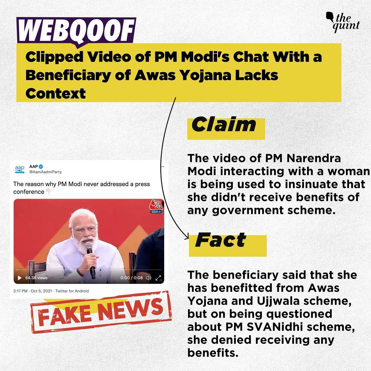 """<div class=""""paragraphs""""><p>The video is being shared to take a dig at PM Modi.&nbsp;</p></div>"""