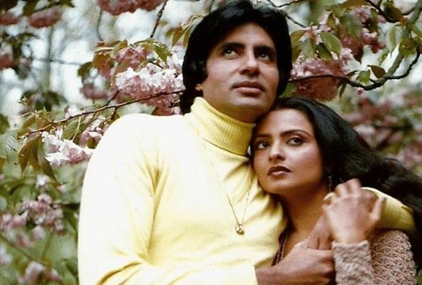 """<div class=""""paragraphs""""><p>Rekha and Amitabh Bachchan in <em>Silsila.</em></p></div>"""