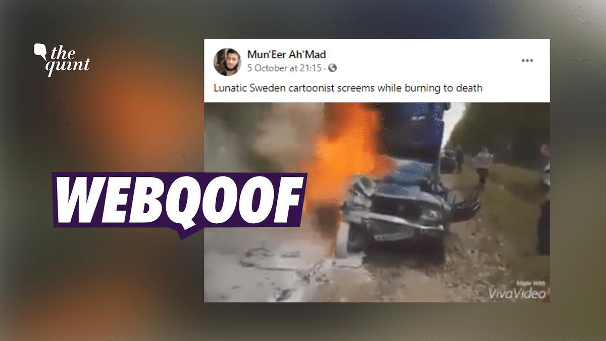 Clip of Burning Car Wrongly Shared As Swedish Artist Lars Vilks' Death