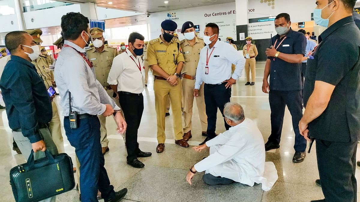 'Was Going to See Priyanka': CM Baghel Stopped at Lucknow Airport, Sits on Floor
