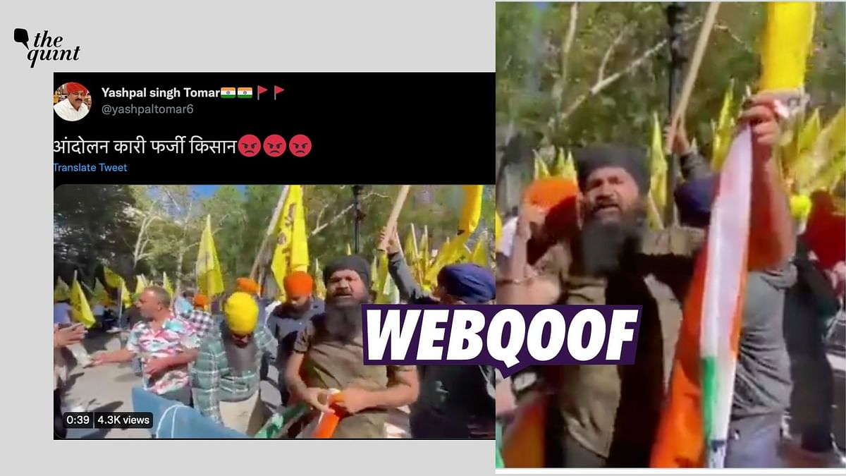 """<div class=""""paragraphs""""><p>The video shows pro-Khalistan protesters in New York, who had gathered outside the UN headquarters.</p></div>"""