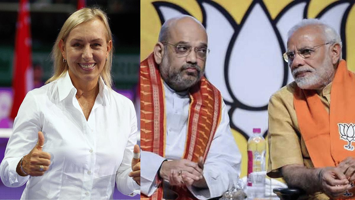 Check Out Martina Navratilova's Viral Reaction to Amit Shah Praising PM Modi