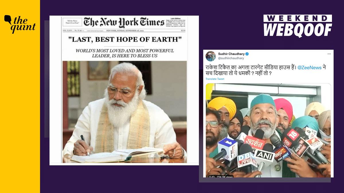 WebQoof Recap: Fabricated NYT Front Page, Rakesh Tikait 'Threatening' Media