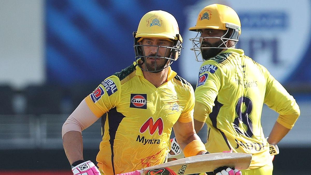 """<div class=""""paragraphs""""><p>Faf du Plessis scored a half century against Punjab.</p></div>"""