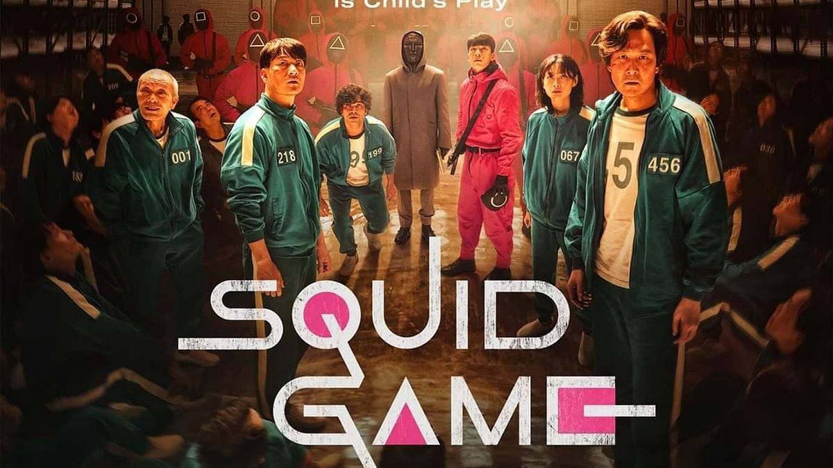 """<div class=""""paragraphs""""><p>A poster for&nbsp;<em>Squid Game.</em></p></div>"""