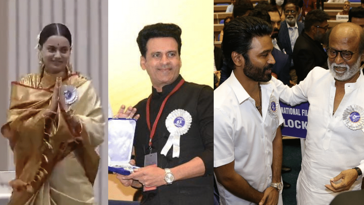 Pics: Kangana, Manoj Bajpayee, Dhanush at 67th National Film Awards