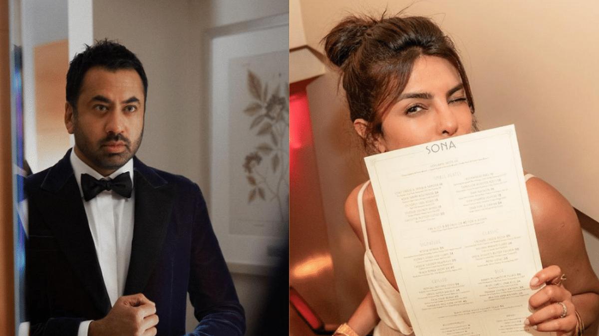 """<div class=""""paragraphs""""><p>Kal Penn visits Priyanka Chopra's New York restaurant 'Sona'.</p></div>"""