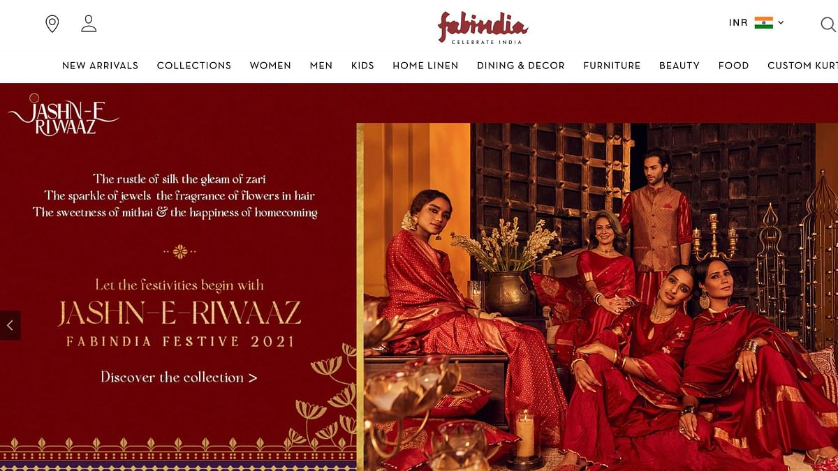 """<div class=""""paragraphs""""><p>Tejasvi Surya called for FabIndia's boycott after they released an ad featuring their Diwali collection, titled, 'Jashn-E-Rivaaz'.</p></div>"""