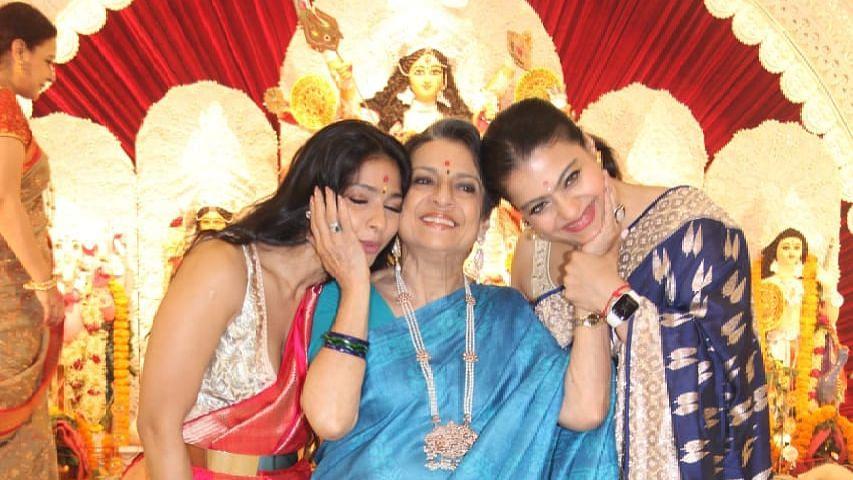 Pics: Kajol Celebrates Durga Puja With Mom Tanuja, Sister Tanishaa