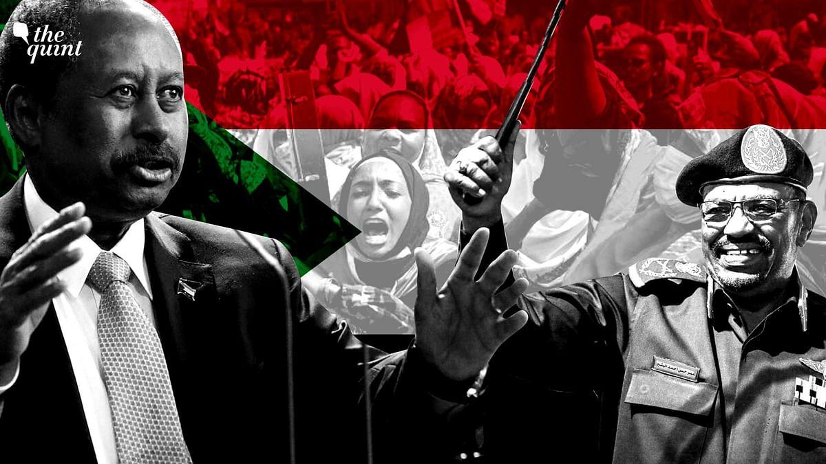 "<div class=""paragraphs""><p>Sudan's Prime Minister Abdalla Hamdok (left) and former President Omar al-Bashir (right).</p></div>"