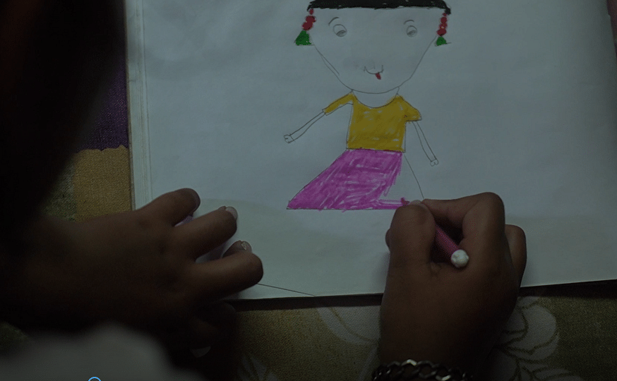"<div class=""paragraphs""><p>Chhoti Nirbhaya painting her favourite – 'Gudiya.'</p></div>"