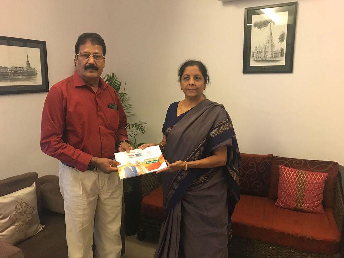 "<div class=""paragraphs""><p>Dr Krishnasamy with Union Minister Nirmala Sitharaman.</p></div>"