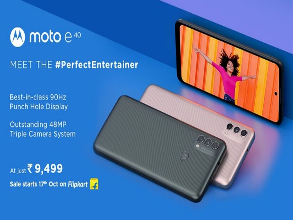 """<div class=""""paragraphs""""><p>Moto E40 is available at a starting price of Rs 9,499.</p></div>"""