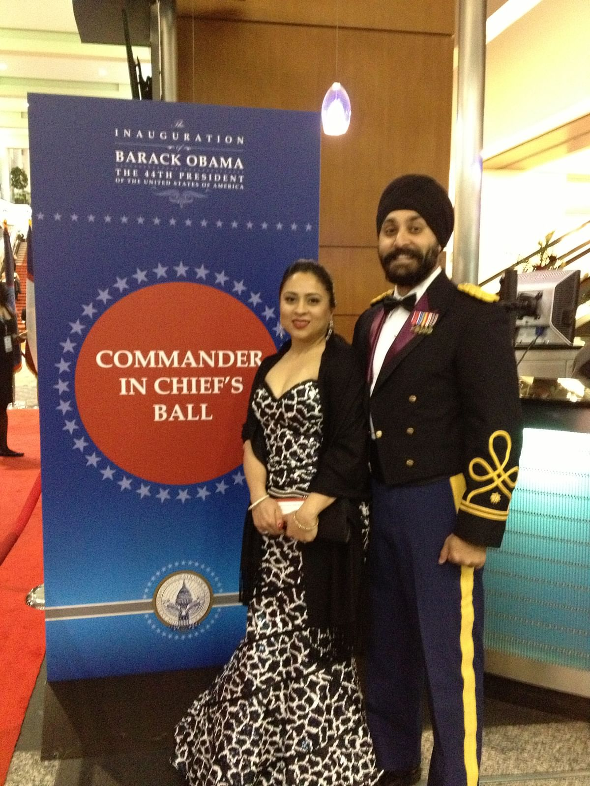 """<div class=""""paragraphs""""><p>Lt Col Kalsi with his wife.</p></div>"""