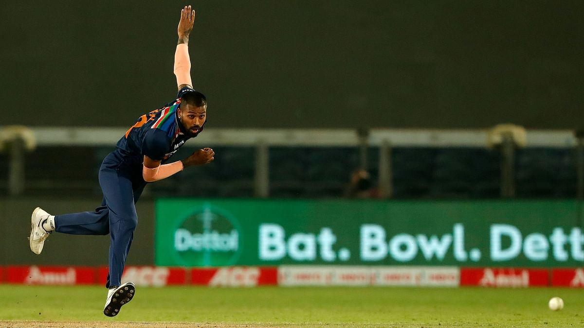 "<div class=""paragraphs""><p>Hardik Pandya bowling against England.&nbsp;</p></div>"