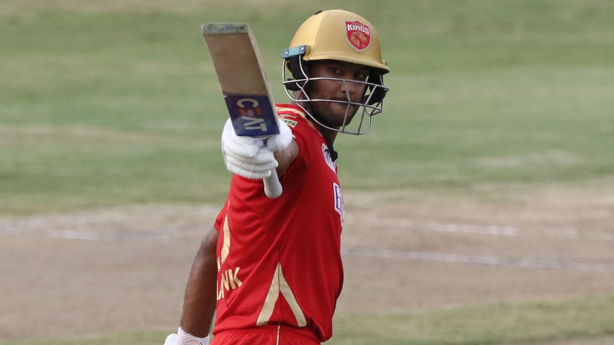 """<div class=""""paragraphs""""><p>Mayank Agarwal after scoring his fifty.</p></div>"""