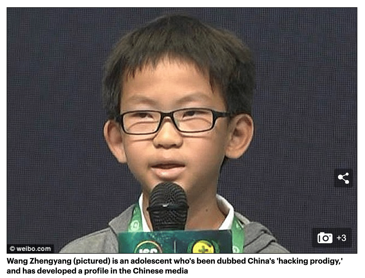 """<div class=""""paragraphs""""><p>Wang Zhengyang, a 13-year-old who's been dubbed China's 'hacking prodigy'</p></div>"""
