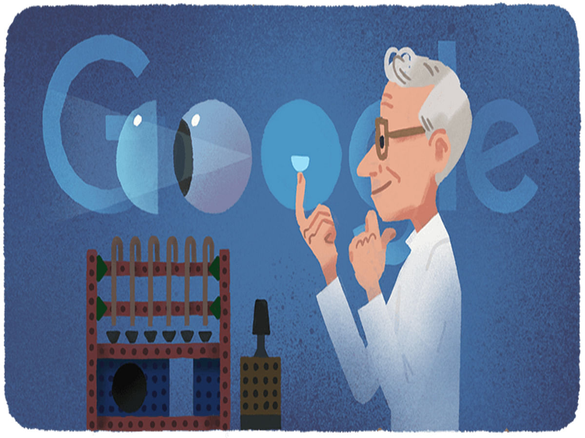Google Doodle Honours Czech Chemist Otto Wichterle on his 108th Birthday
