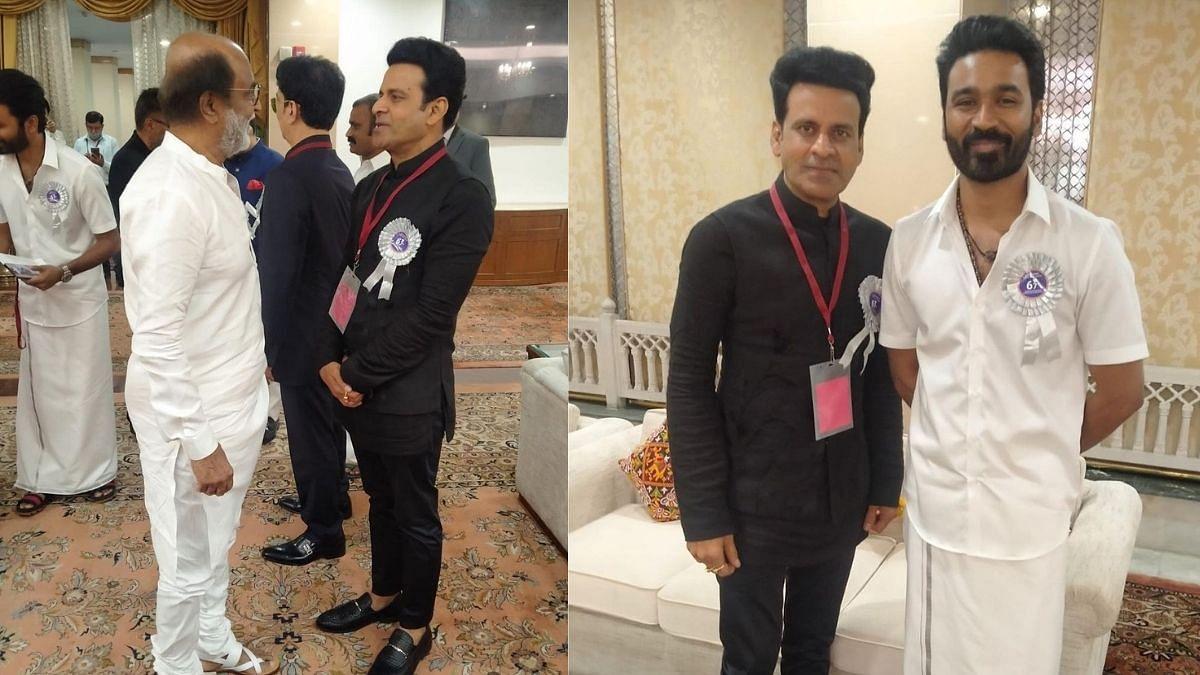 National Film Awards: Manoj Bajpayee Shares Moments With Rajinikanth, Dhanush